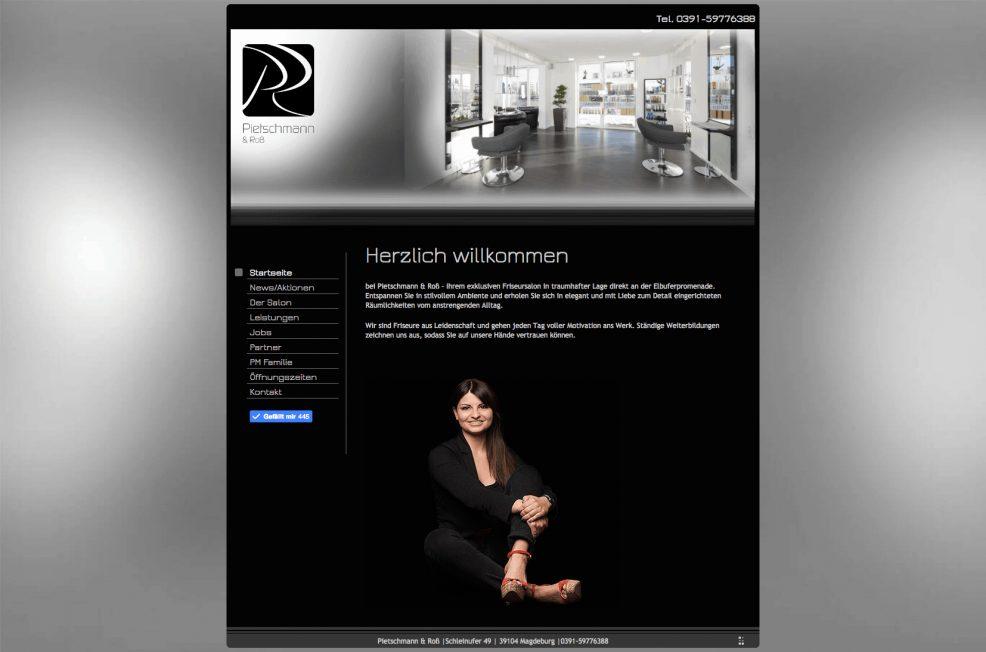 Webdesign und Programmierung für  Pietschmann & Roß Friseursalon