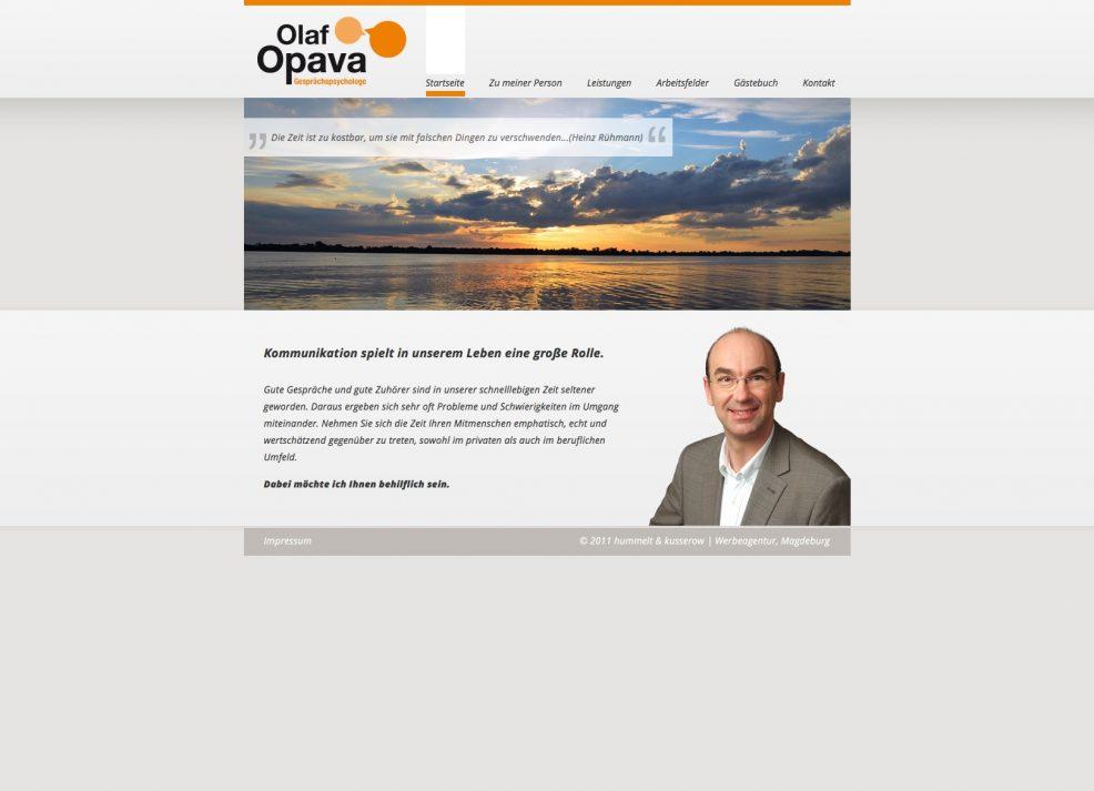 Webdesign und Programmierung für  Gesprächspsychologe Olaf Opava