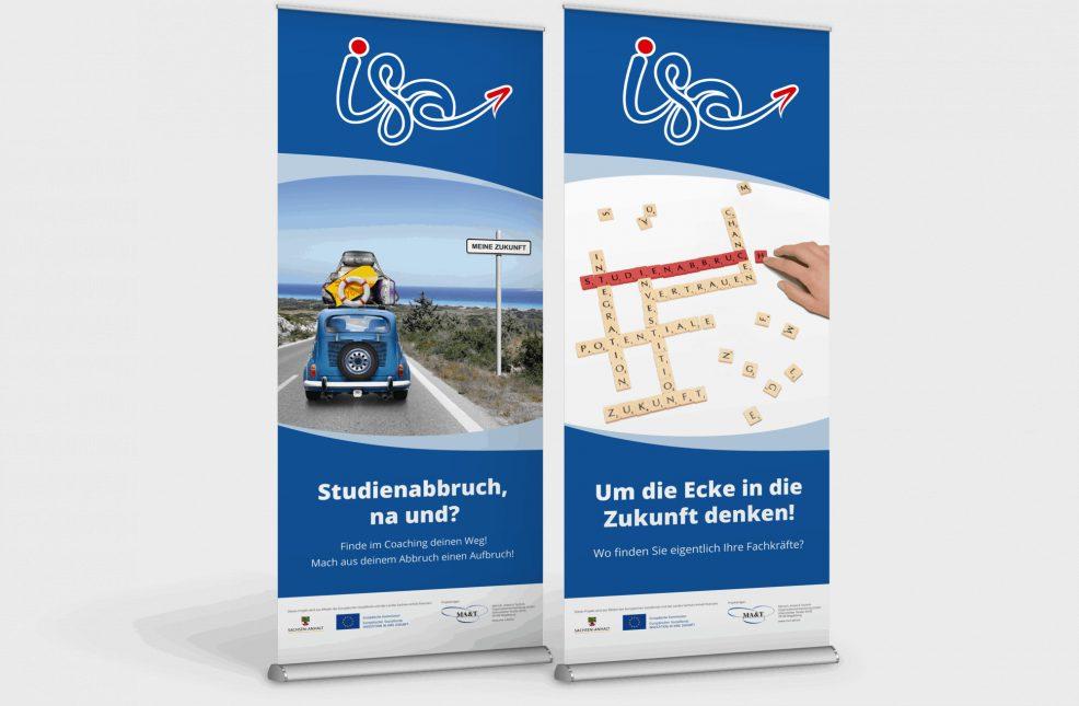 Rollup-Display für  MA&T Mensch, Arbeit & Technik Organisationsentwicklung GmbH