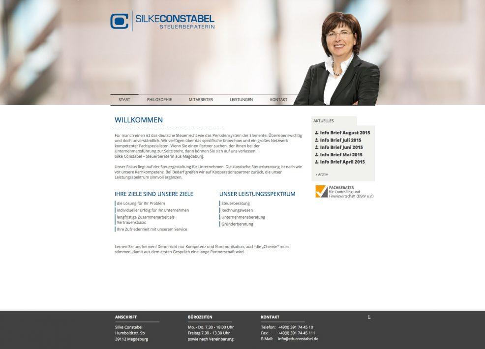Webdesign und Programmierung für  Silke Constabel Steuerberaterin