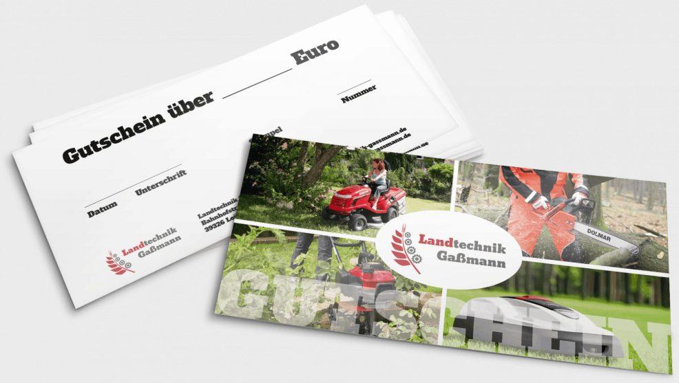 Gutschein für  Landtechnik Gaßmann GmbH