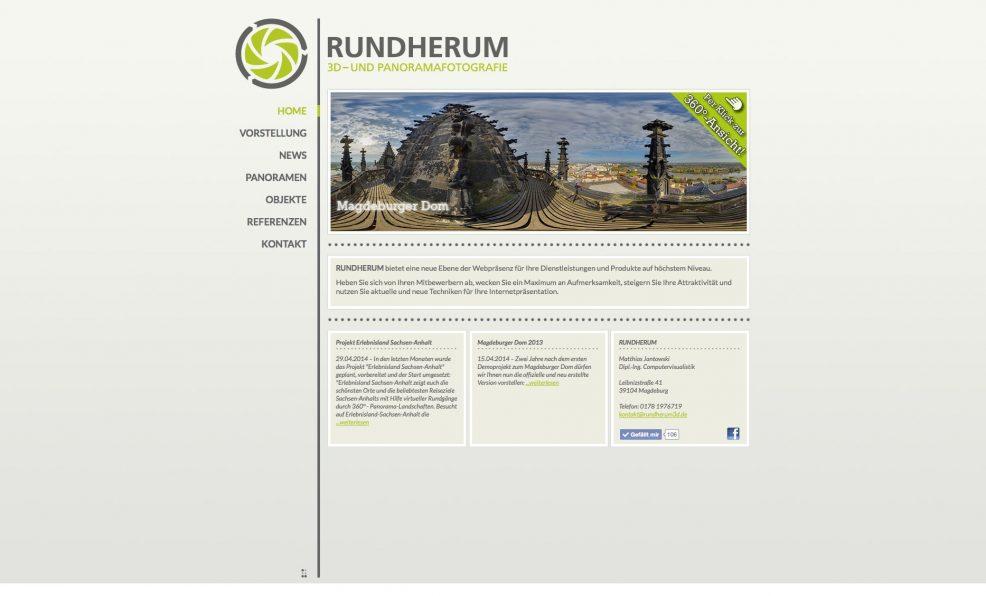 Webdesign und Programmierung für  Rundherum – Matthias Jantowski