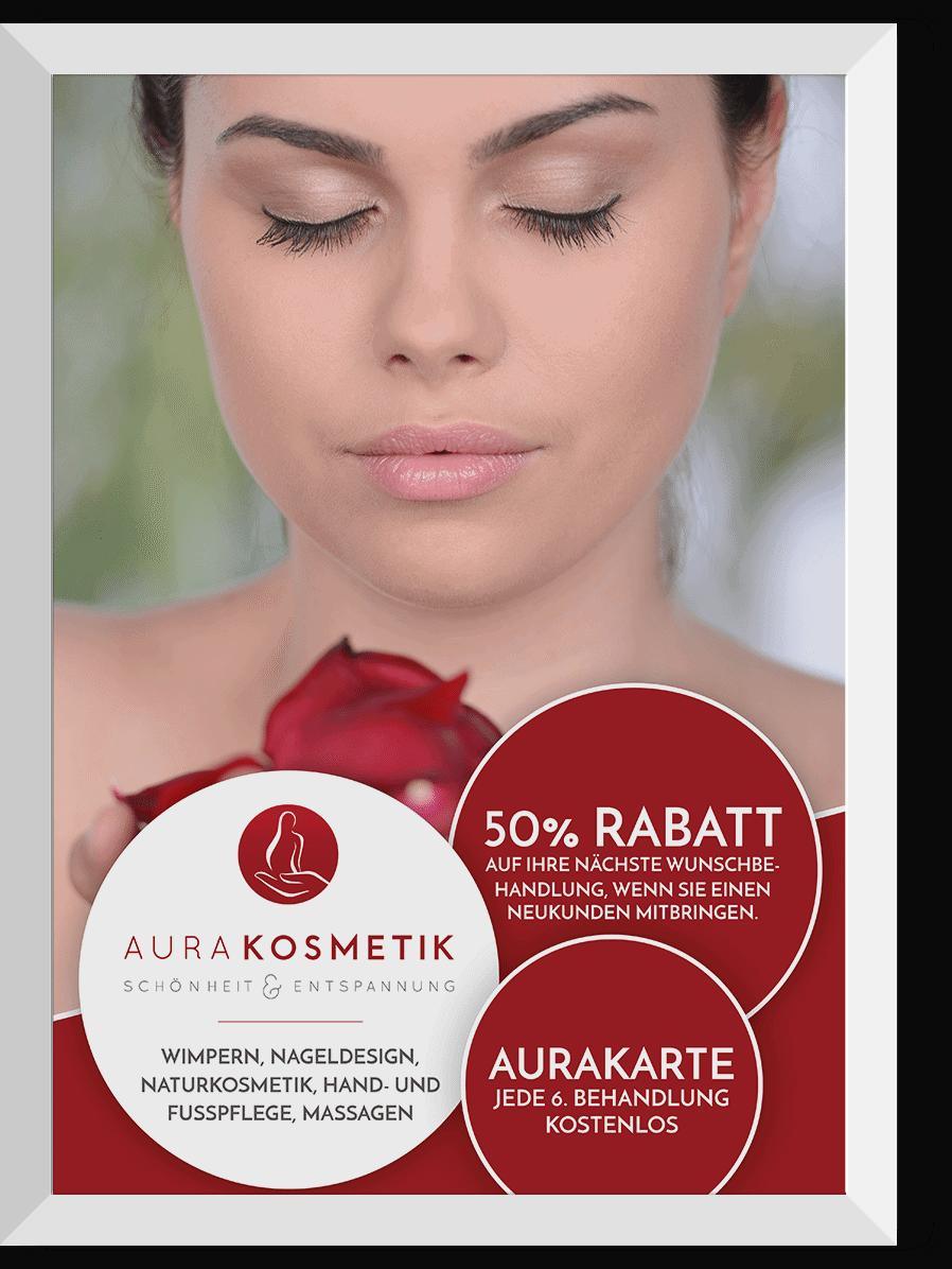 Plakat für  AURA Kosmetik