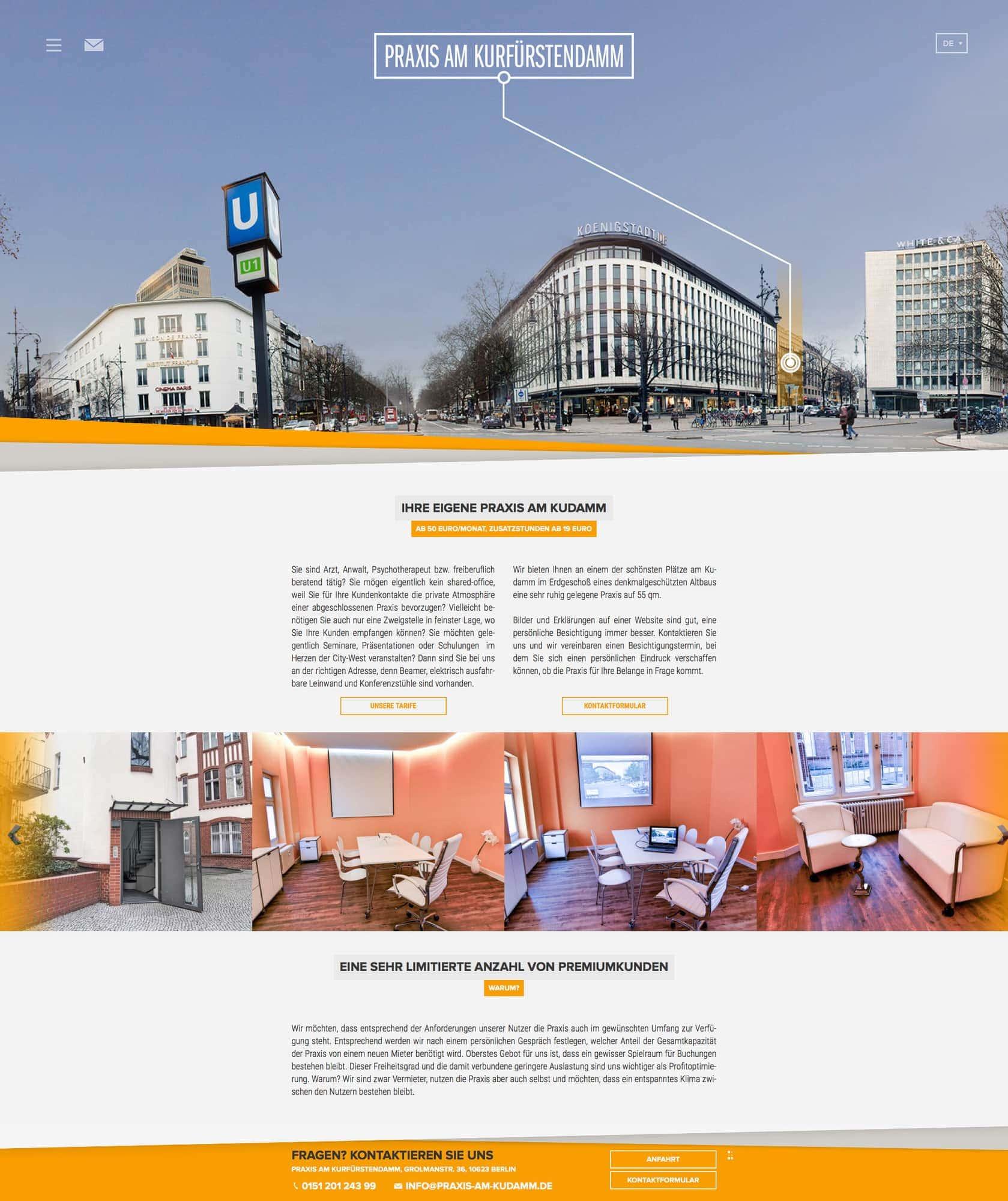 Webdesign und Programmierung für  Praxis am Kurfürstendamm