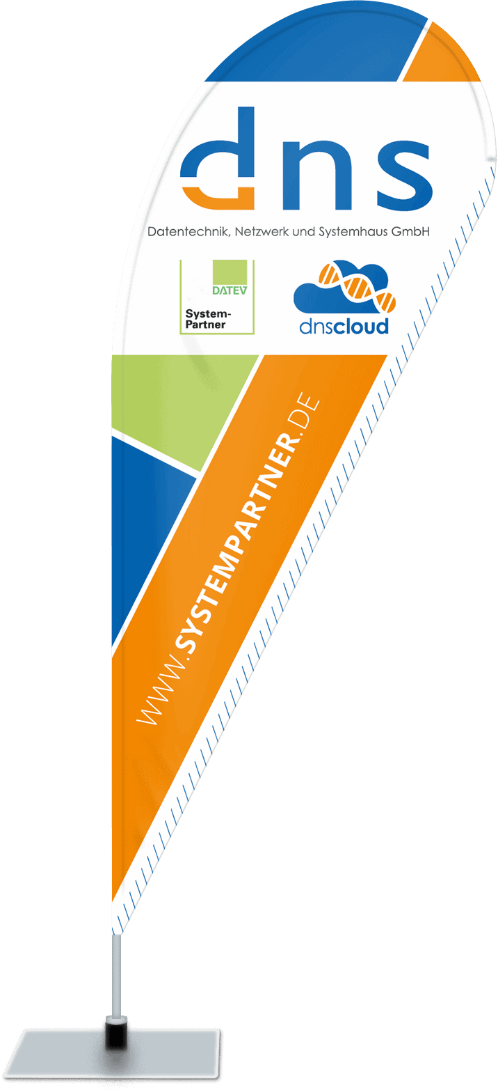 Beachflag für  dns Datentechnik, Netzwerk und Systemhaus GmbH