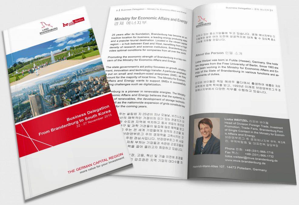 Delegationsbroschüre für  ZAB ZukunftsAgentur Brandenburg GmbH