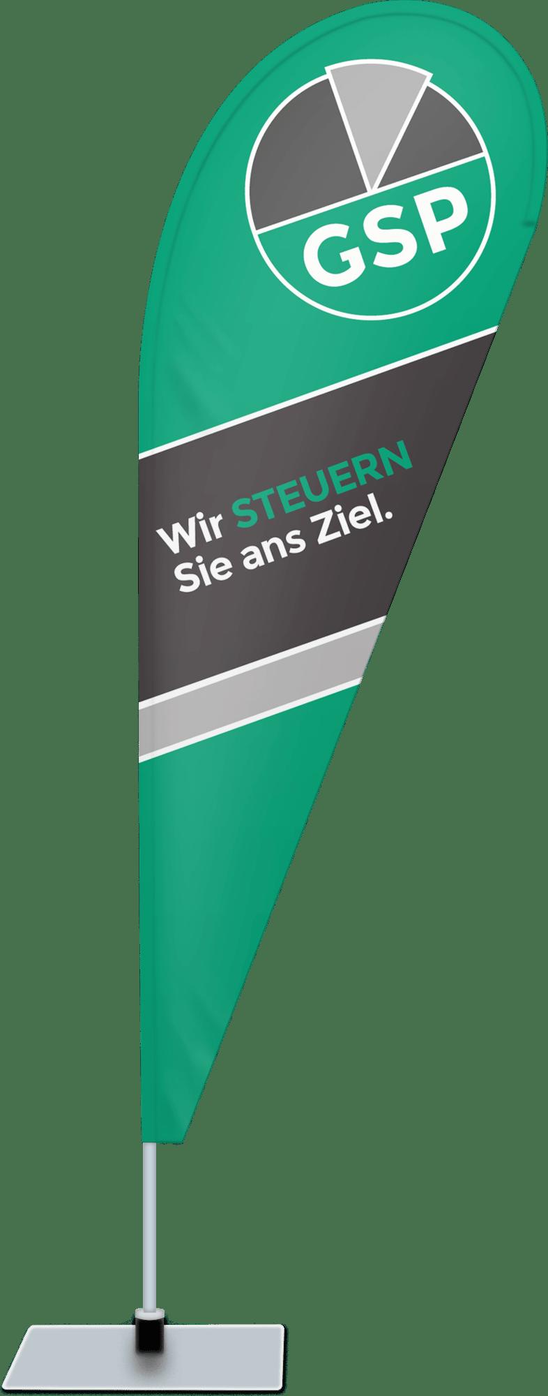 Beachflag für  GSP Steuerberatungsgesellschaft Magdeburg GmbH