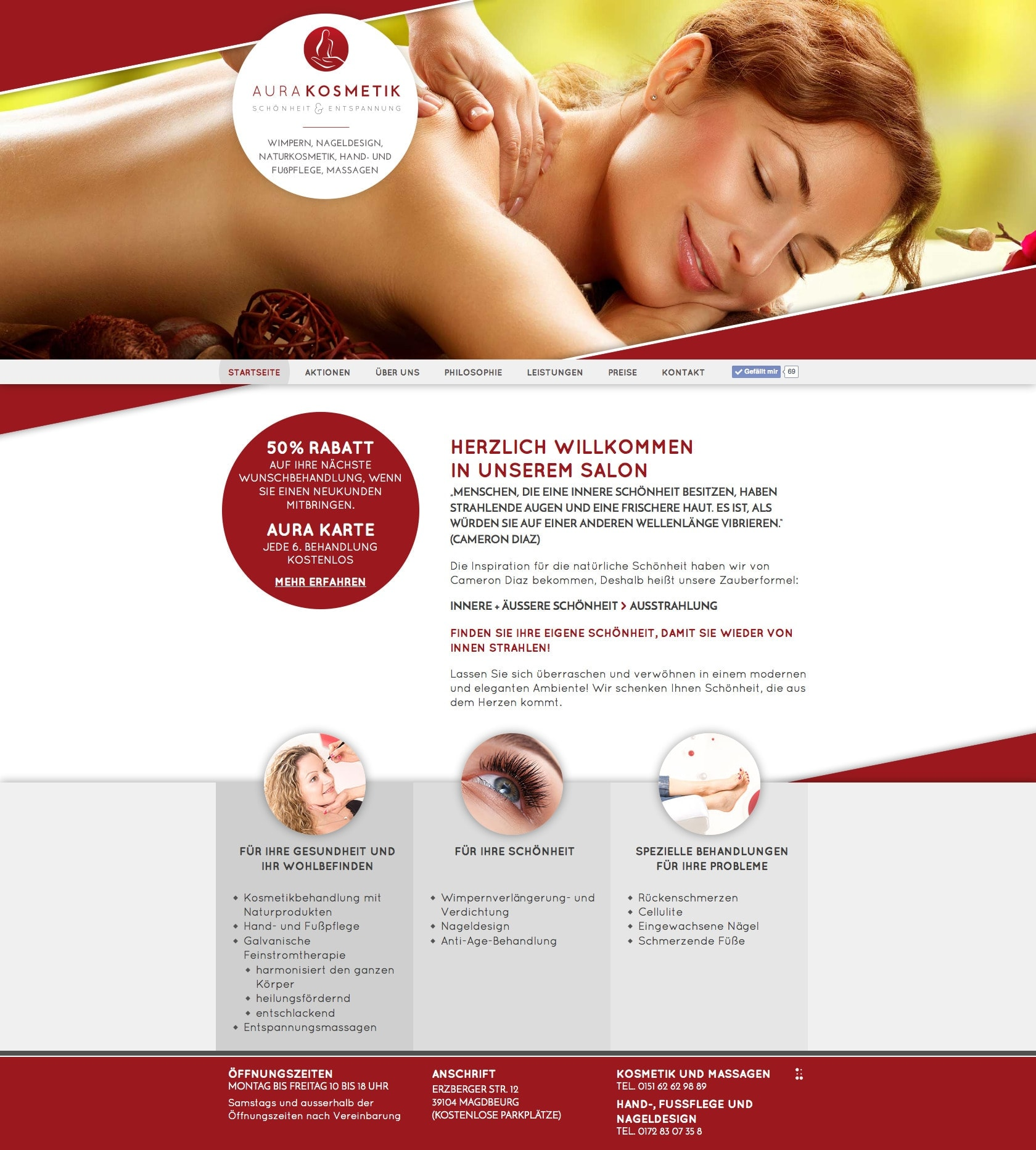 Website AURA Kosmetik