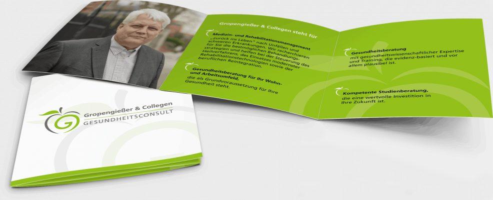 Faltblatt für  Gropengießer & Collegen Gesundheitsconsult