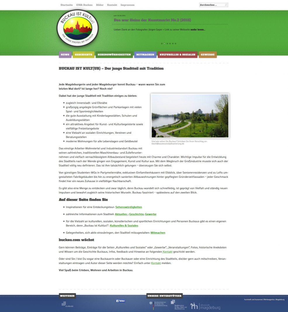 Webdesign und Programmierung für  Buckau