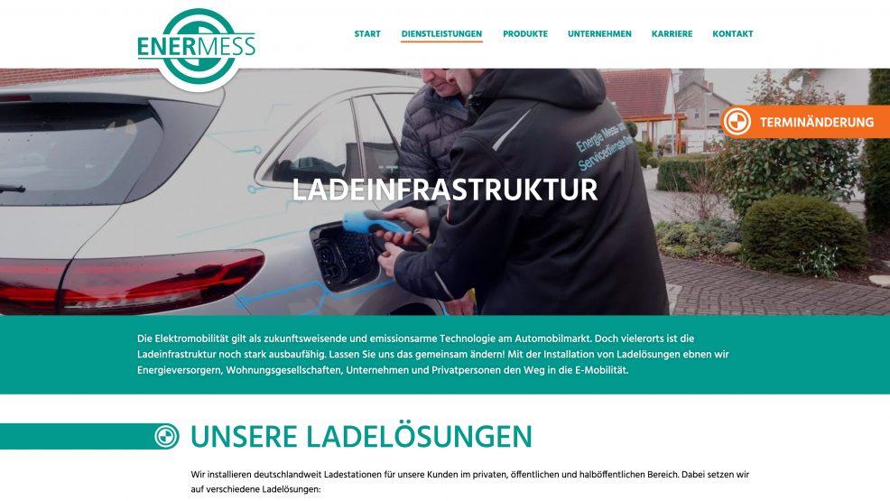 Webdesign und Programmierung für  Energie Mess- und Servicedienste GmbH
