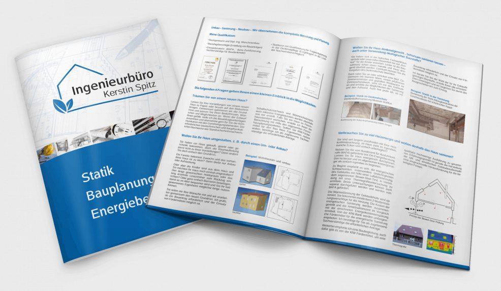 Broschüre für  Ingenieurbüro Kerstin Spitz