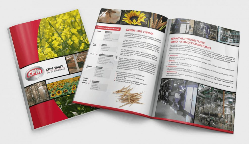 Broschüre für  CPM SKET GmbH