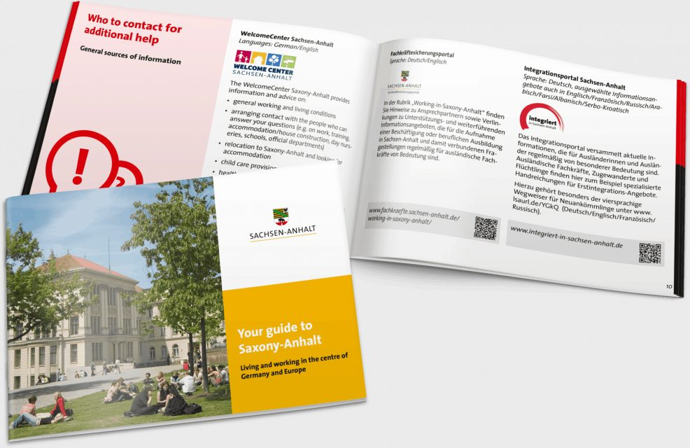 Fachkräftebroschüre, 5-sprachig für  Staatskanzlei Sachsen-Anhalt