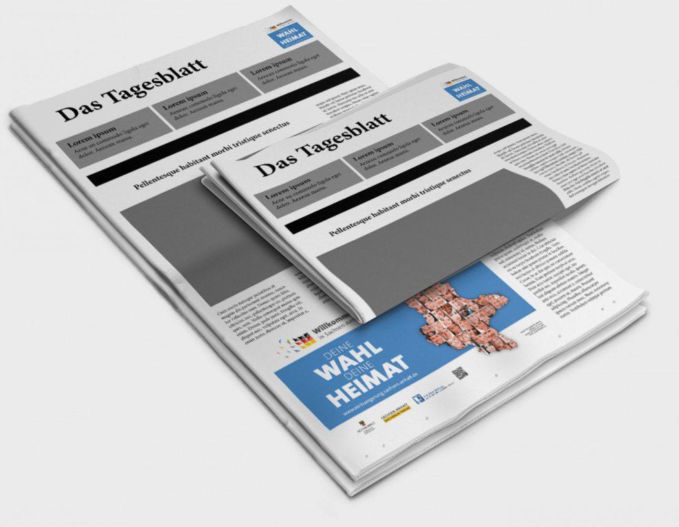 Anzeigen der Einbürgerungskampagne für  Ministerium für Inneres und Sport des Landes Sachsen-Anhalt
