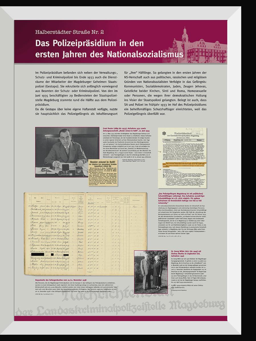 Ausstellungstafeln für  Ministerium für Inneres und Sport des Landes Sachsen-Anhalt