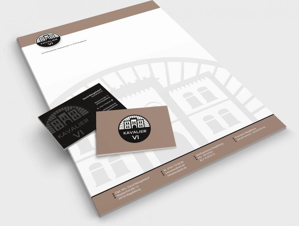 Briefpapier und Visitenkarten für  Kavalier VI