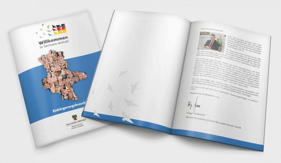 Einbürgerungsbroschüre für  Ministerium für Inneres und Sport des Landes Sachsen-Anhalt