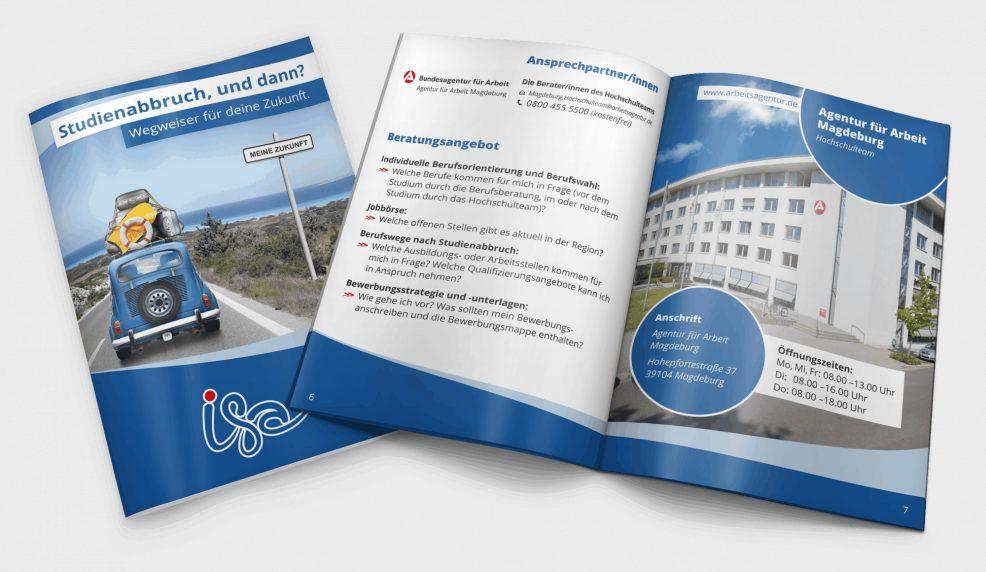 """Broschüre """"Studienabbruch"""" für  MA&T Mensch, Arbeit & Technik Organisationsentwicklung GmbH"""