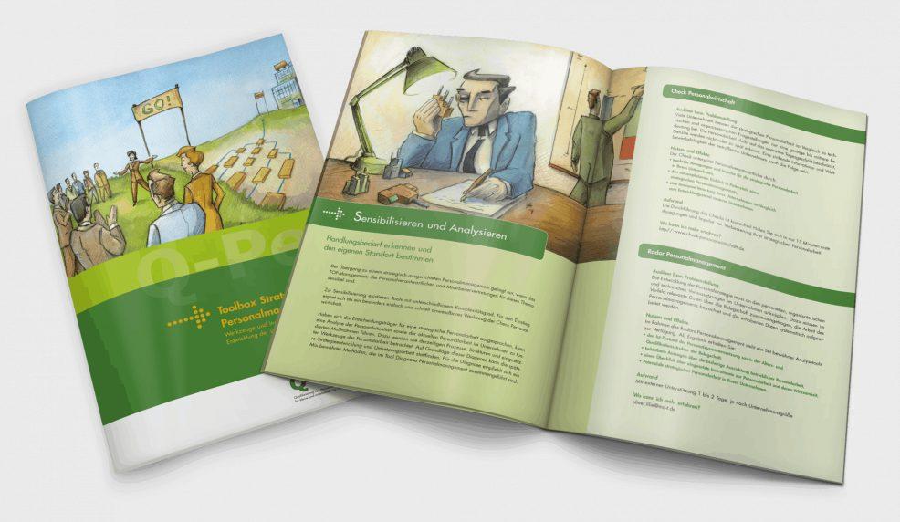 """Broschüre """"Toolbox"""" für  MA&T Mensch, Arbeit & Technik Organisationsentwicklung GmbH"""