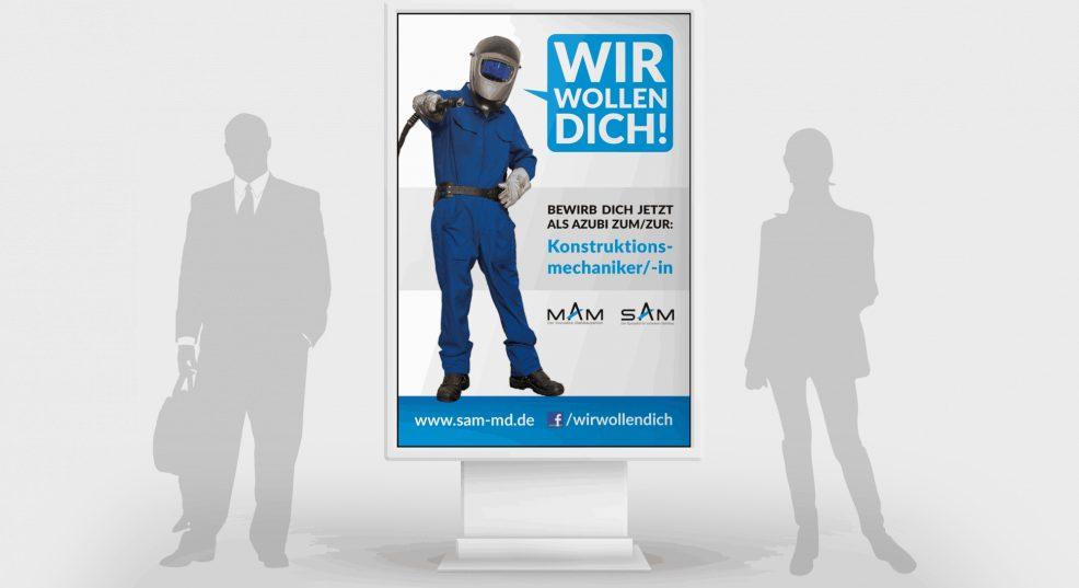 Citylight-Plakat für  SAM MAM Ausbildungsverbund