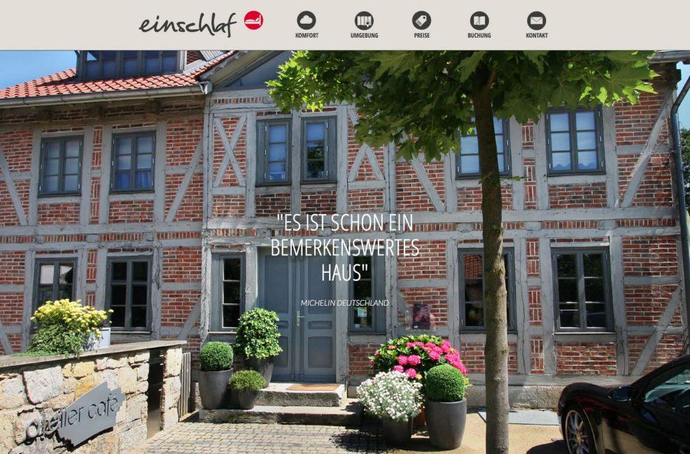 Webdesign und Programmierung für  einschlaf Hotel, Inh. Tobias Senft