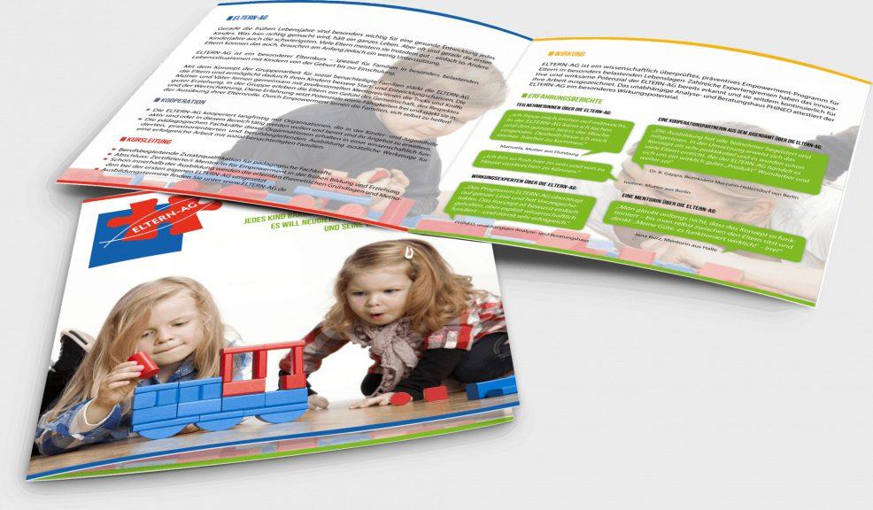 Faltblatt für  MAPP-Empowerment GmbH (gemeinnützig) – Programm ELTERN-AG