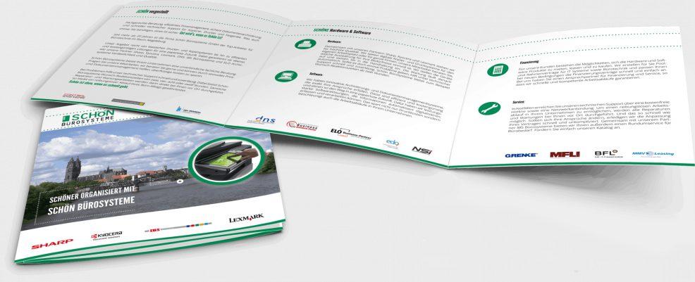 Faltblatt für  Schön Bürosysteme GmbH