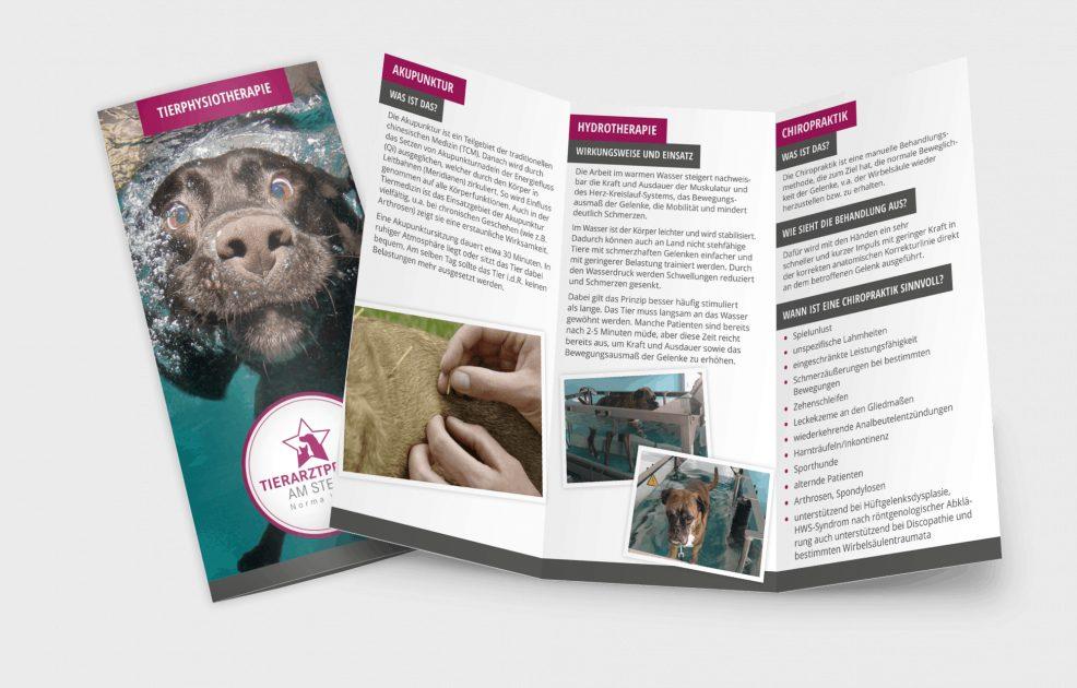 Faltblatt für  Tierarztpraxis am Stern, Norma Weiß