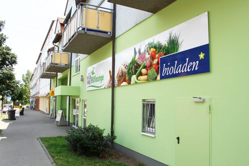 Beschilderung für  BIOlounge GmbH