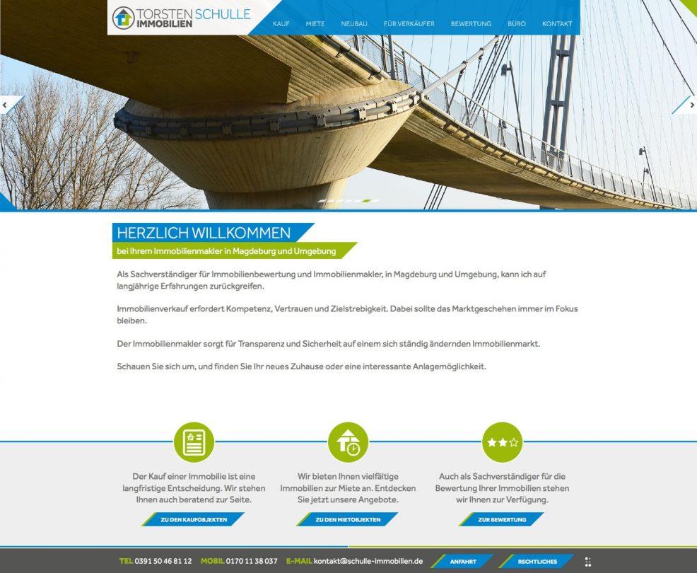Webdesign und Programmierung für  Torsten Schulle Immobilien