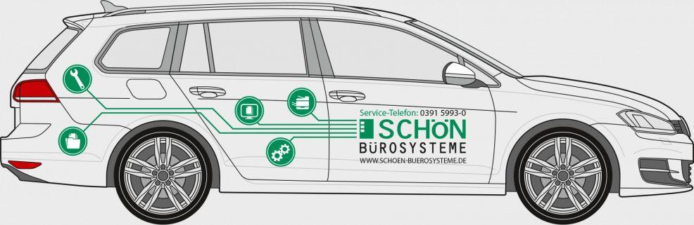 KFZ-Beschriftung für  Schön Bürosysteme GmbH