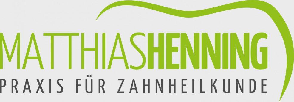 Logoentwicklung für  Praxis für Zahnheilkunde Matthias Henning