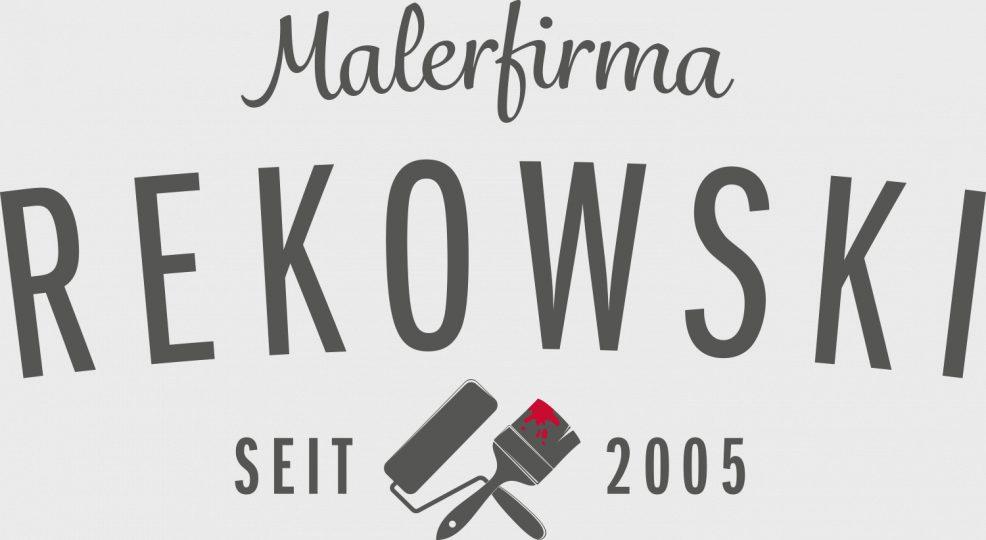 Logoentwicklung für  Malerfirma Rekowski