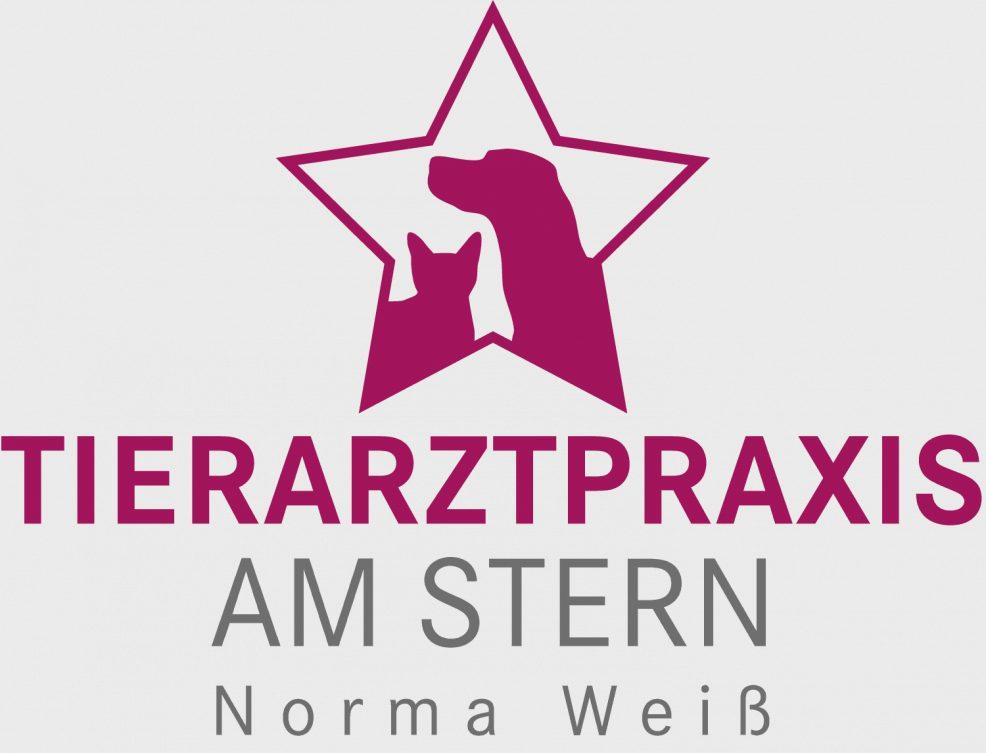 Logoentwicklung für  Tierarztpraxis am Stern, Norma Weiß