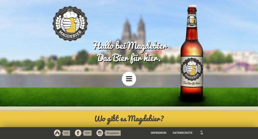 Webdesign und Programmierung für  Magdebier