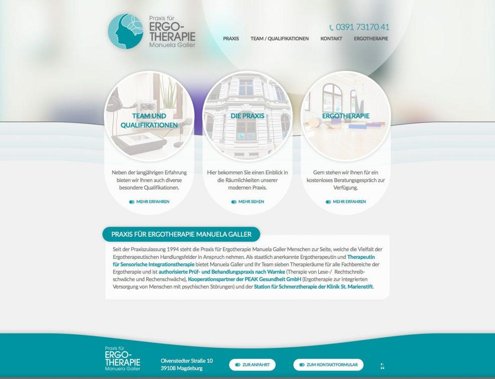 Webdesign und Programmierung für  Praxis für Ergotherapie Manuela Galler