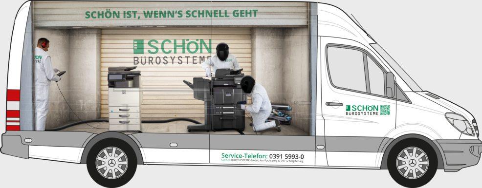 Transporterbeschriftung für  Schön Bürosysteme GmbH