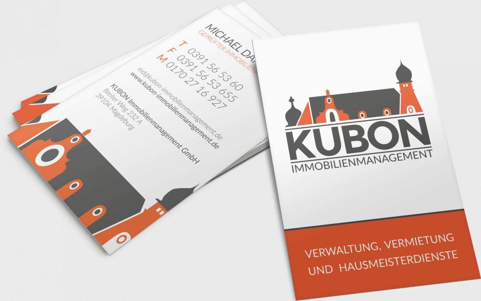 Visitenkarten für  KUBON Immobilienmanagement GmbH