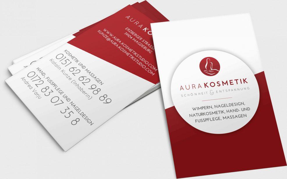 Visitenkarten für  AURA Kosmetik