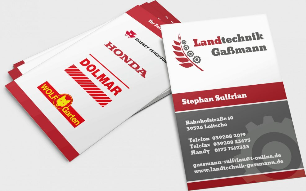 Visitenkarten für  Landtechnik Gaßmann GmbH