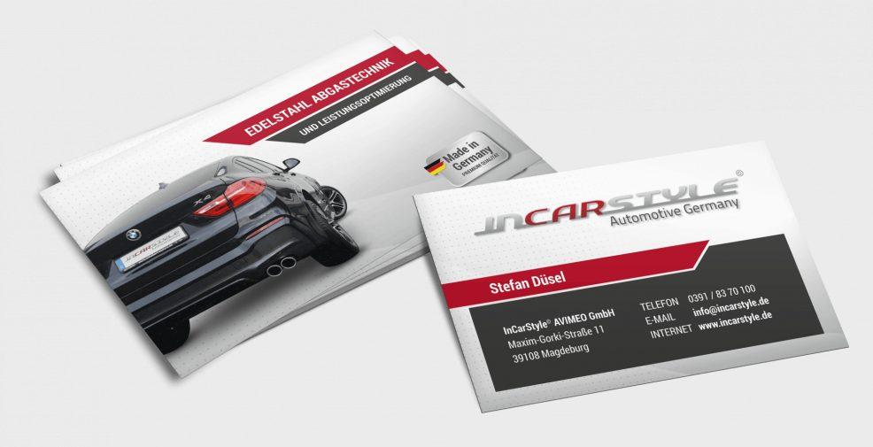 Visitenkarten für  InCarStyle AVIMEO GmbH