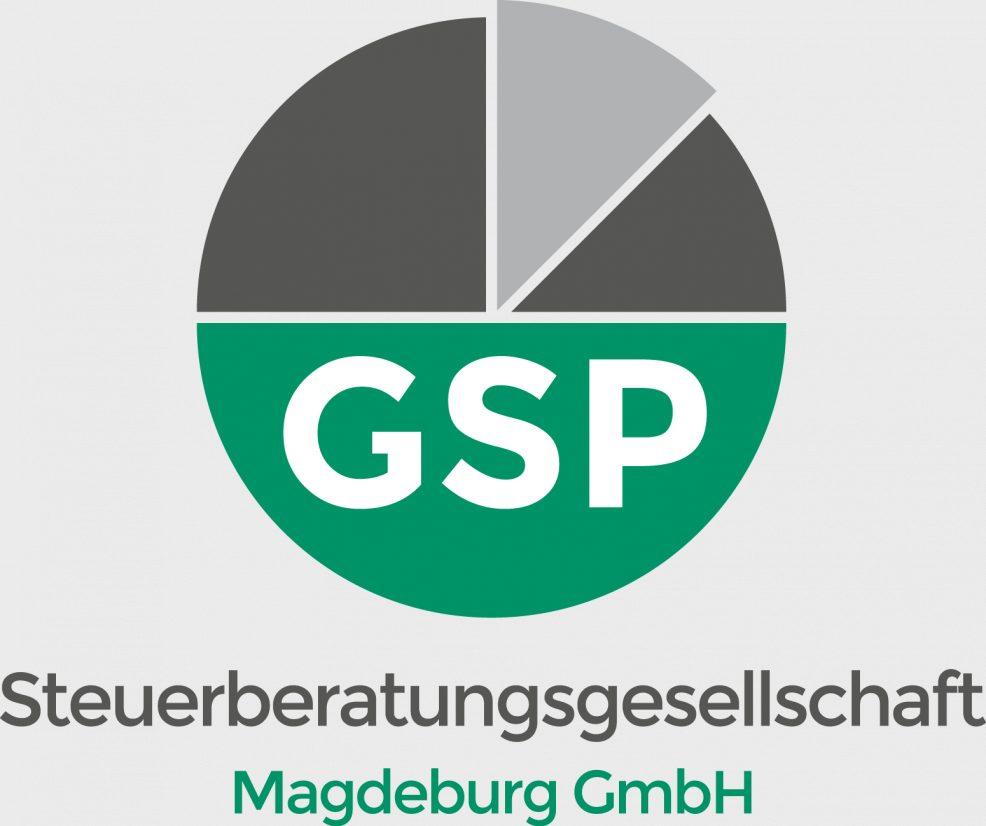 Logoentwicklung für  GSP Steuerberatungsgesellschaft Magdeburg GmbH