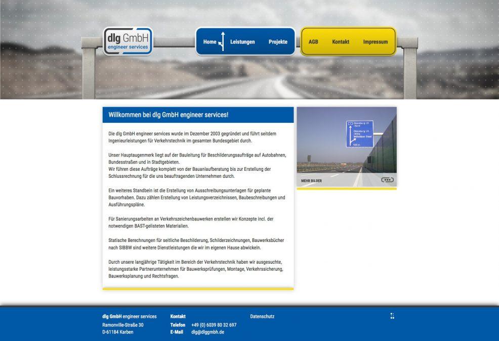 Webdesign und Programmierung für  dlg GmbH engineer services