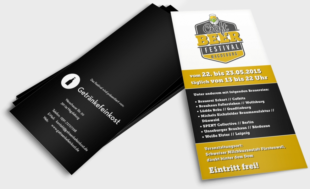 Flyer für  Craft Beer Festival