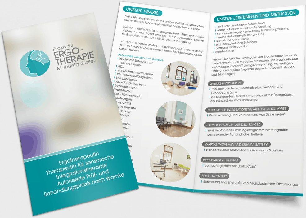 Faltblatt für  Praxis für Ergotherapie Manuela Galler