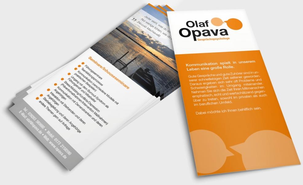 Flyer für  Gesprächspsychologe Olaf Opava