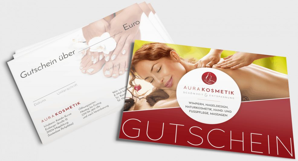 Gutschein für  AURA Kosmetik