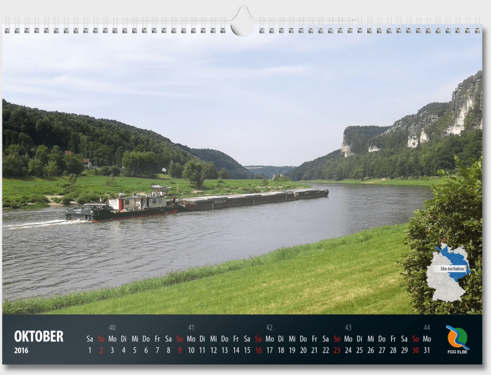 Kalender für  Flussgemeinschaft Elbe