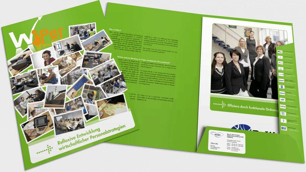 """Mappe """"WiPer"""" für  MA&T Mensch, Arbeit & Technik Organisationsentwicklung GmbH"""